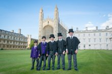 Five choristers from different yeargroups
