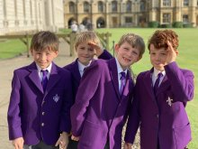 Four young choristers