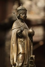 Henry VI (1421 - 1471) on the lectern in the Choir of the Chapel