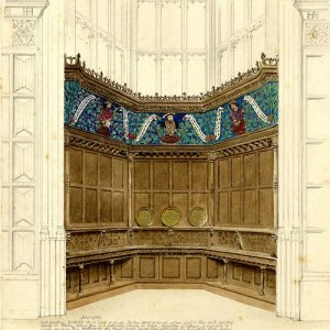 One of two suggestions for the sideboard in the window of the Hall. [undated]