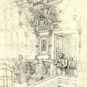 The choir stalls in Orvieto Cathedral (7 April 1874)