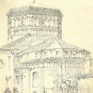 The Basilica Sant' Ambrogio, Milan (June 1874)