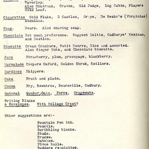 More suggestions for the canteen (1920)