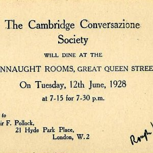 Invitation to an Apostles' dinner (1928)