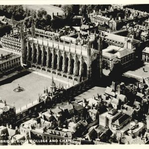 Aerial view of King's College and Chapel