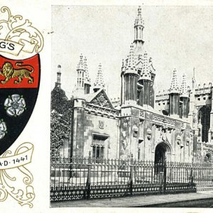 King's College front gate and crest