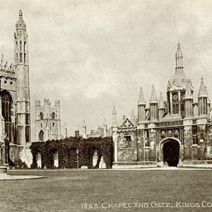 Chapel and gate, King's College