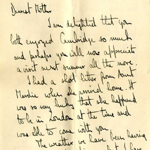 Opening page of letter dated 5 Dec 1923