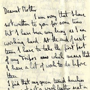 Opening page of letter dated 19 Feb 1922