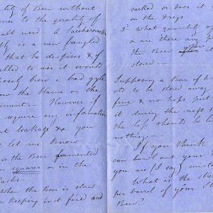 Pages 2 and 3 of letter about college brewing