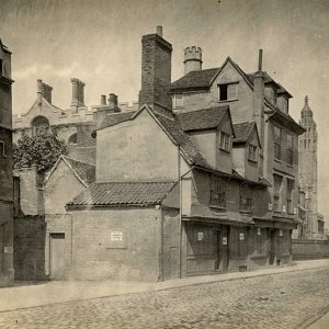 Cory's House on King's Parade before demolition, 1840-70