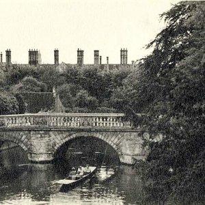 Punt under Clare Bridge (undated)