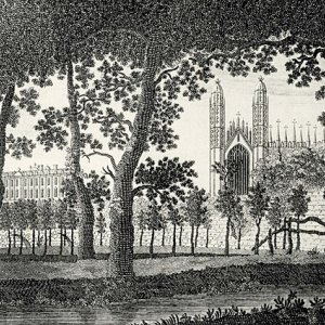 A view of Clare Hall and King's College Chapel (1779)