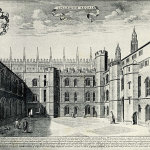The interior of the old court, looking south (c. 1690-1725)