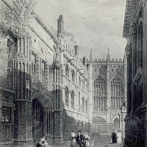 West side and gateway of the old court (undated)