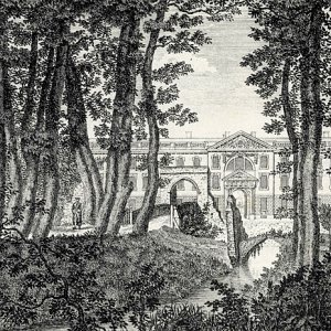 King's College, new building, from the grove (1775-1776)