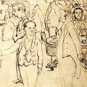 Richard Okes, Provost 1850-1889 (on the left)
