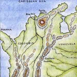 Map of northern Colombia