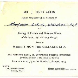 Invitation to a wine tasting (1955)