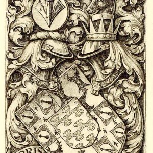 Bookplate of AHF Boughey