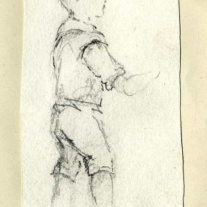 Pencil study of a small boy