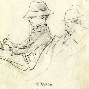 Sketch of CR Ashbee by HLS