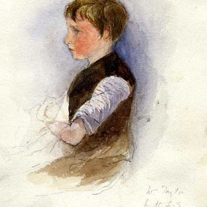 Watercolour of W Taylor