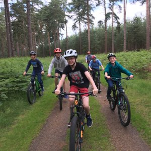 Choristers off-road cycling
