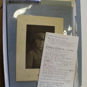 Items from the accession re-packaged and given archival reference numbers