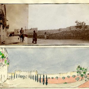 The new road to Notre Dame de France, by CRA. [c.1920]