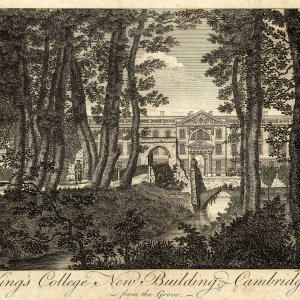 Engraving from c. 1790 showing the old bridge. (KCD/146)