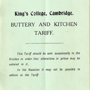 Buttery and kitchen tariff (1911)