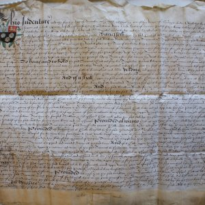Lease of a tenement in St Mary's by King's College to William Warde, Doctor of 'Physicke', 4 December 1595. (CAM/111)