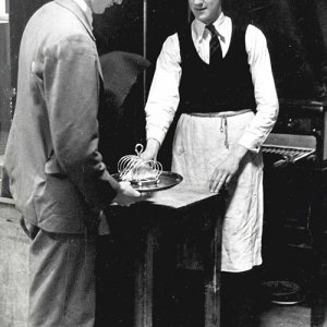 R. Linder and D. Merry, Buttery staff, 1939