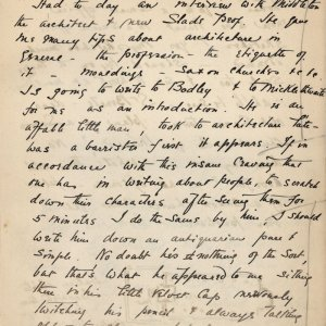First page of C.R. Ashbee's journal entry on meeting John Henry Middleton. [CRA/1/2, f.200]