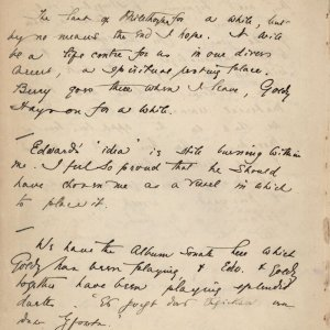 C.R. Ashbee's journal entry on his feelings about Carpenter's idea, 5 September 1886. [CRA/1/2, f.268v]