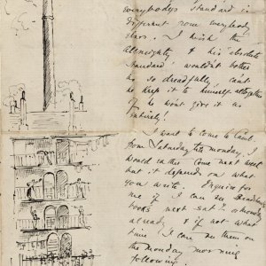 Final page of a letter from C.R. Ashbee to Roger Fry, covering life at Toynbee Hall, lecturing on Ruskin and working with Bodley, [October 1886]. [CRA/1/2, f.359]