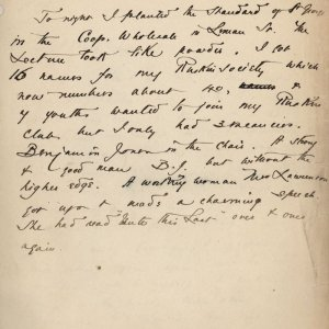 C.R. Ashbee's journal entry on the growth of his 'Ruskin class', 16 February 1887. [CRA/1/3, f.27]