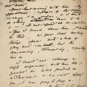 C.R. Ashbee's journal entry on his meeting with William Morris, December 1887. [CRA/1/3, f.169]