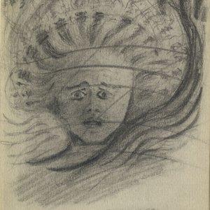 C.R. Ashbee's sketch entitled 'Soul of William Morris.', December 1887. [CRA/1/3, f.170]