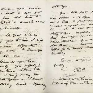 Second page of a letter from C.R. Ashbee to Roger Fry concerning John Williams, dated July [1888]. [CRA/1/3, f.245 verso]