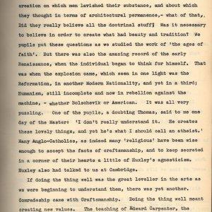 Start of C.R. Ashbee's memoir entry on comradeship, craftsmanship and philanthropy. [CRA/3/1, f.6]