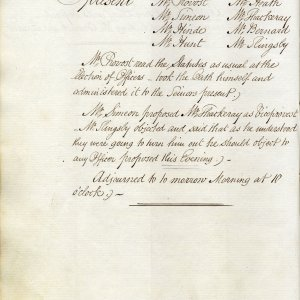 One of the fraught votes for the 1829 officers, where points of honour began to prevail. (KCGB/4/1/1/4)