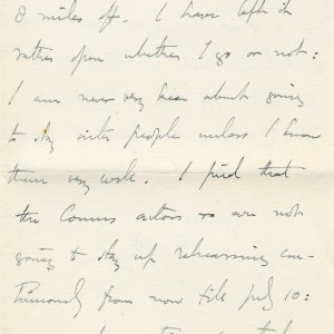 Letter from Edward Dent to Lawrence Haward, in which he refers to Rupert Brooke as 'Prince Rupert'. 4 June 1908. Archive Centre, King's College, Cambridge. EJD/4/111/10/5. Page 7.
