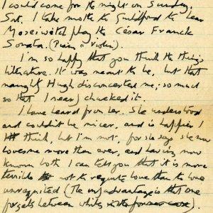 Letter from Forster to Florence Barger, 27 April 1915 (EMF/18/38/1)