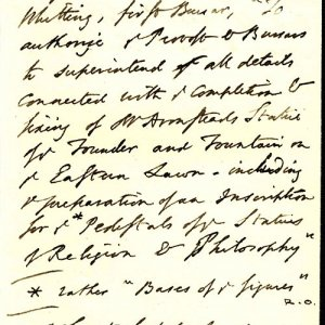 Unsigned letter commissioning Armstead to build the Fountain (FRO/2)