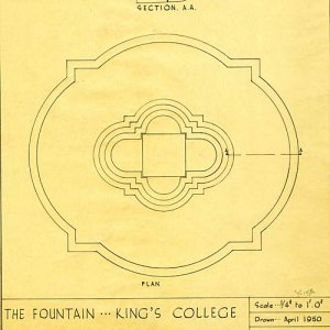 Plan and section of the Fountain by University Estates Dept. 1950 (FRO/10)