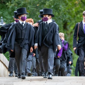 The choristers in their croc