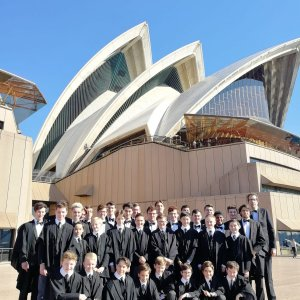 The Choir before a concert at the Sydney Opera House (2019)