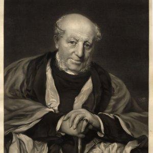 Provost Okes, photogravure print of a portrait by Hubert Herkomer (KCAC/1/4/Okes)